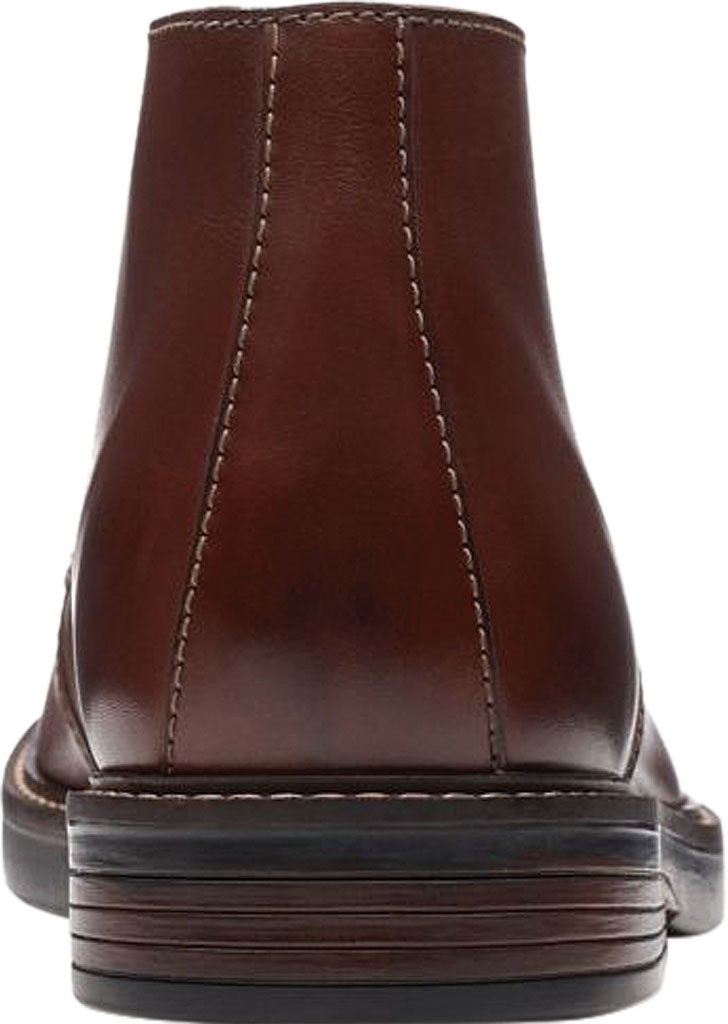 Men's Clarks Paulson Mid Chukka Boot, Mahogany Full Grain Leather, large, image 4