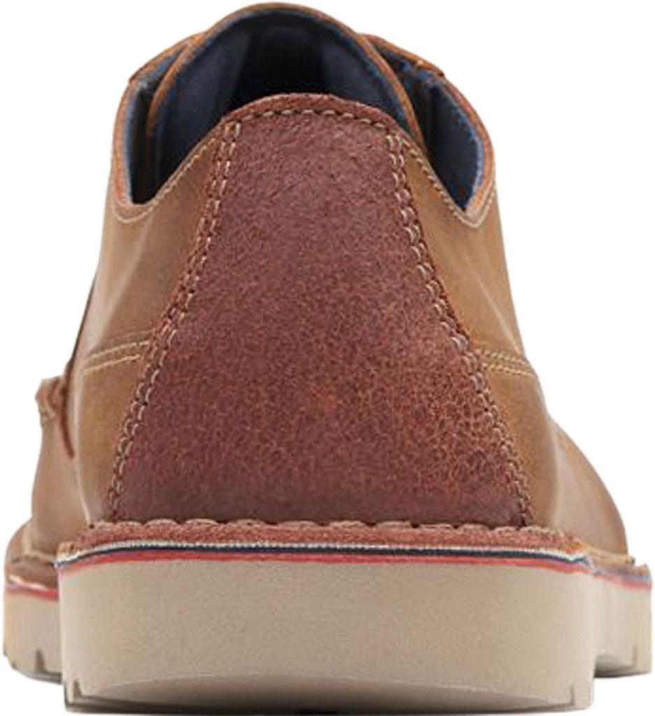 Men's Clarks Vargo Plain Oxford, Dark Tan Full Grain Leather, large, image 4