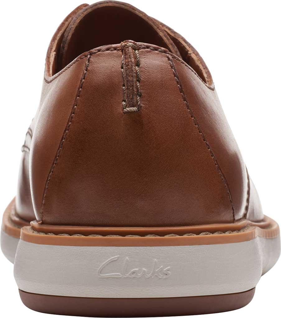 Men's Clarks Draper Lace Up Oxford, Tan Full Grain Leather, large, image 4