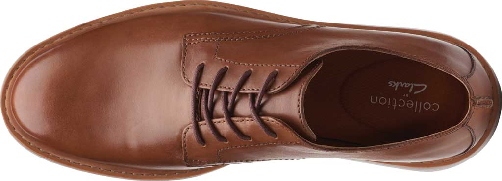 Men's Clarks Draper Lace Up Oxford, Tan Full Grain Leather, large, image 5