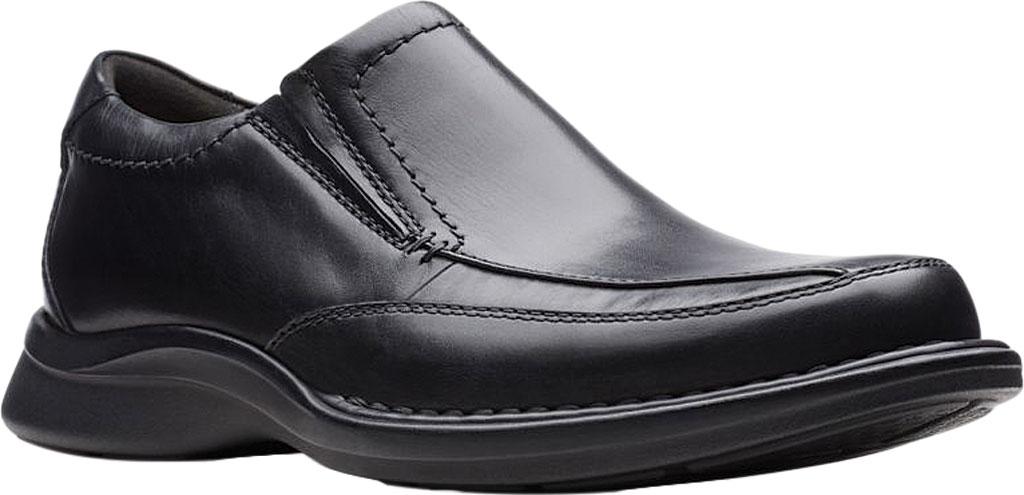 Men's Clarks Kempton Free Loafer, Black Full Grain Leather, large, image 1