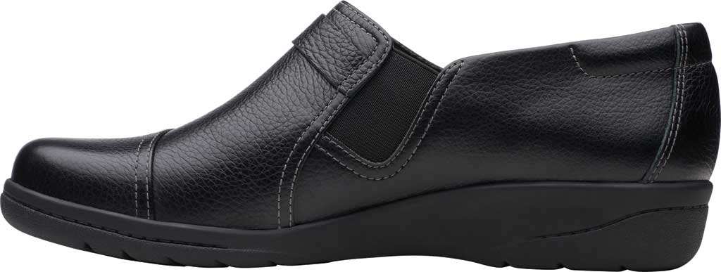 Women's Clarks Cheyn Fame Clog, Black Tumbled Leather, large, image 3
