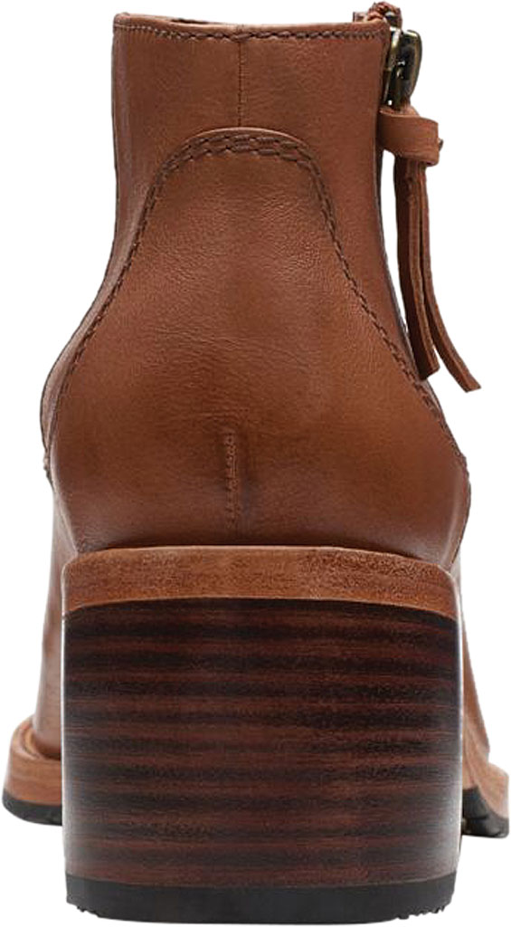 Women's Clarks Clarkdale Dawn Ankle Bootie, Dark Tan Leather, large, image 4