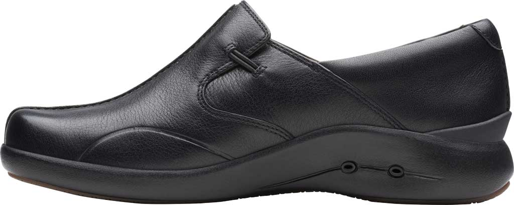 Women's Clarks Un.Loop 2 Walk Loafer, Black Tumbled Leather, large, image 3
