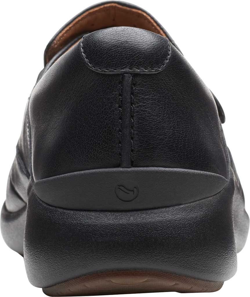 Women's Clarks Un.Loop 2 Walk Loafer, Black Tumbled Leather, large, image 4
