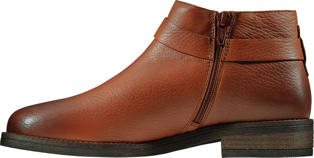 Women's Clarks Demi Tone Ankle Bootie, British Tan Leather, large, image 3