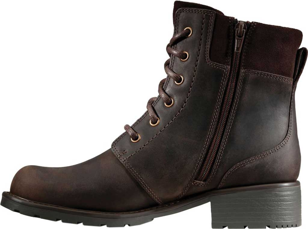 Women's Clarks Orinoco Spice Ankle Boot, Dark Brown Nubuck, large, image 3