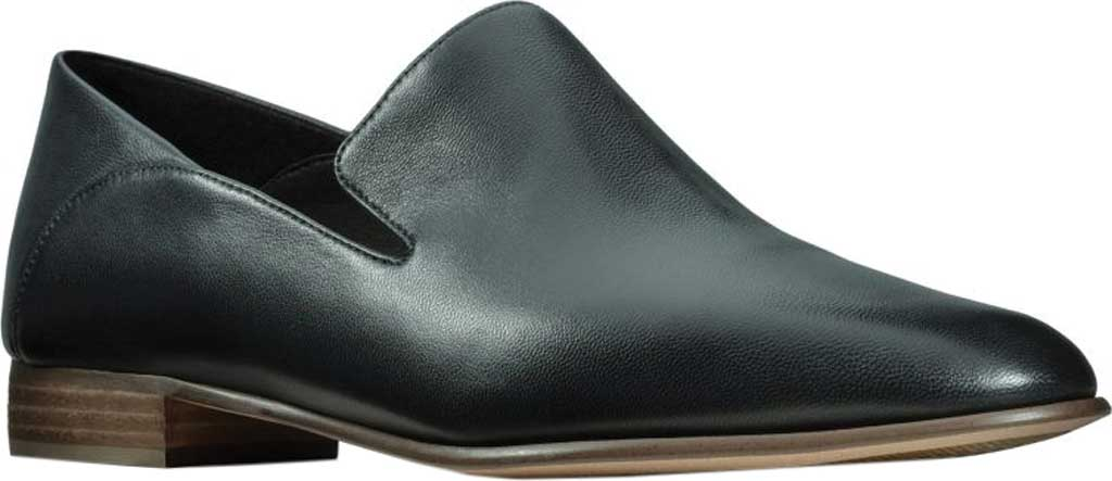 Women's Clarks Pure Viola Loafer, Black Leather, large, image 1