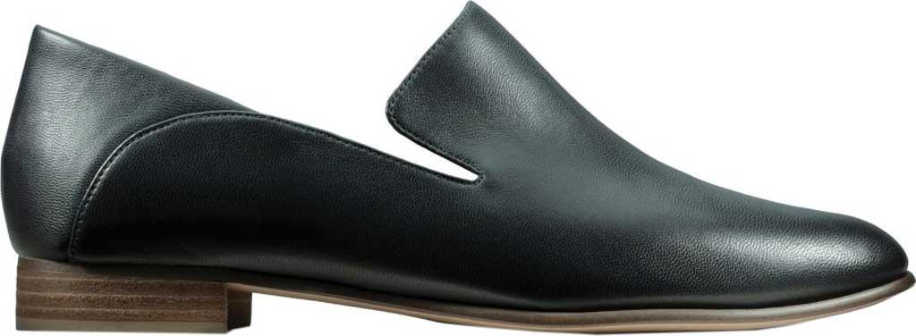 Women's Clarks Pure Viola Loafer, Black Leather, large, image 2