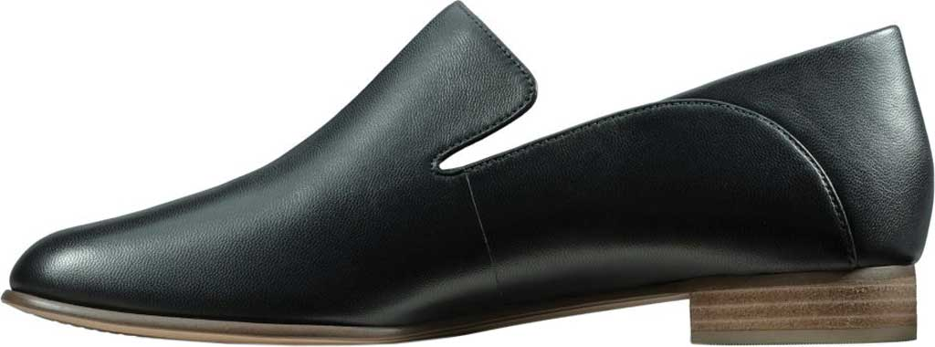 Women's Clarks Pure Viola Loafer, Black Leather, large, image 3