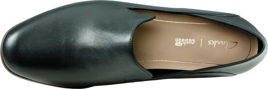 Women's Clarks Pure Viola Loafer, Black Leather, large, image 5