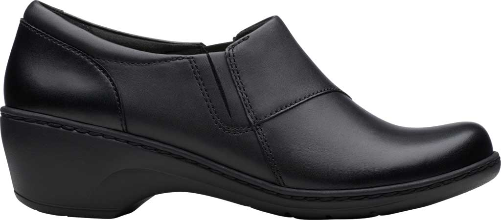 Women's Clarks Channing Fiona Clog, Black Full Grain Leather, large, image 2