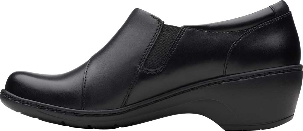 Women's Clarks Channing Fiona Clog, Black Full Grain Leather, large, image 3