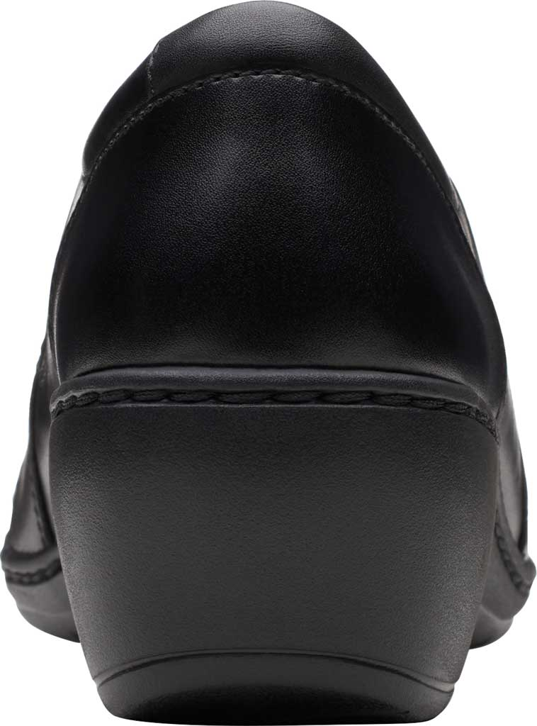 Women's Clarks Channing Fiona Clog, Black Full Grain Leather, large, image 4