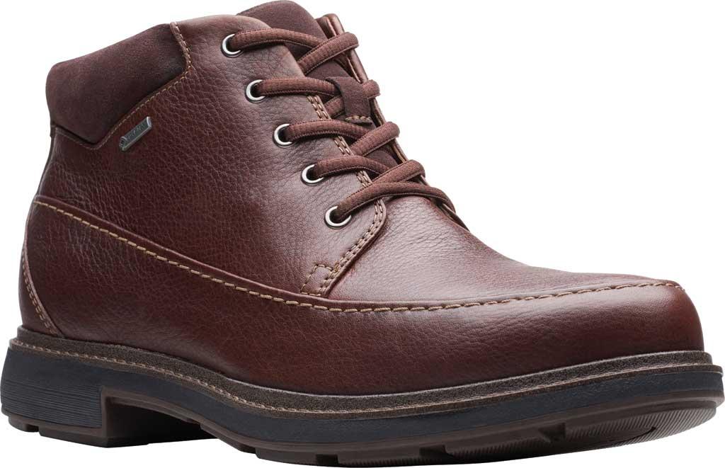 Men's Clarks Un Tread On GTX Boot, Dark Brown Leather, large, image 1