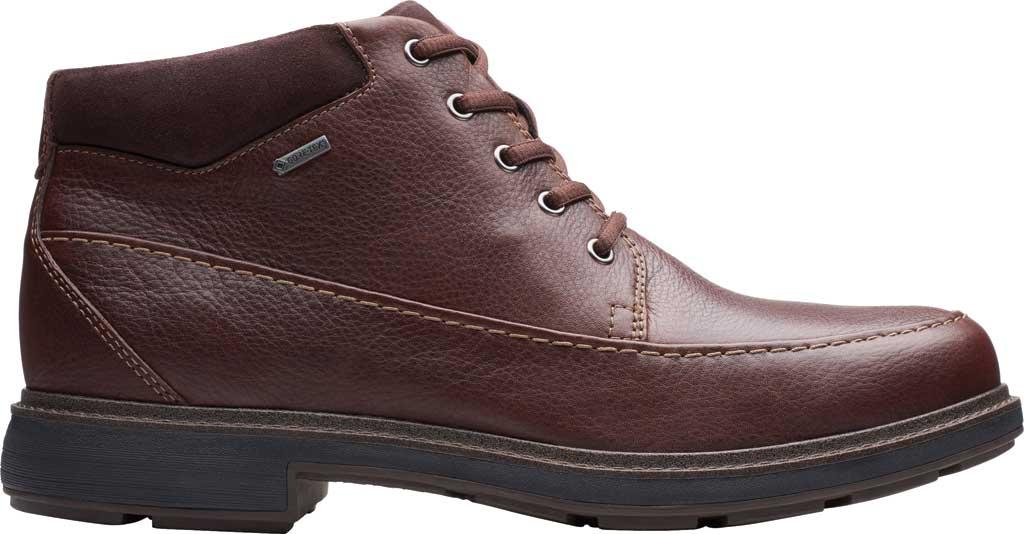 Men's Clarks Un Tread On GTX Boot, Dark Brown Leather, large, image 2