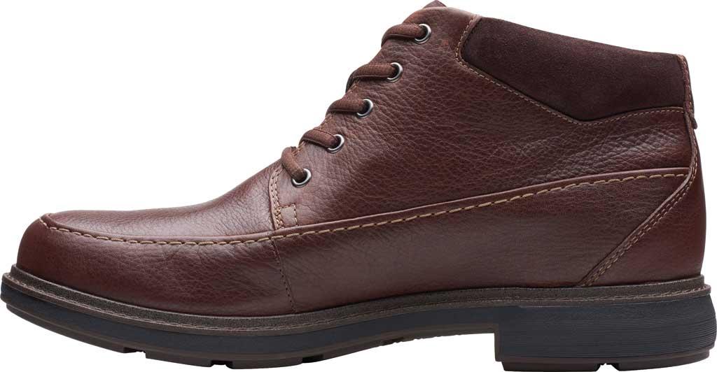 Men's Clarks Un Tread On GTX Boot, Dark Brown Leather, large, image 3