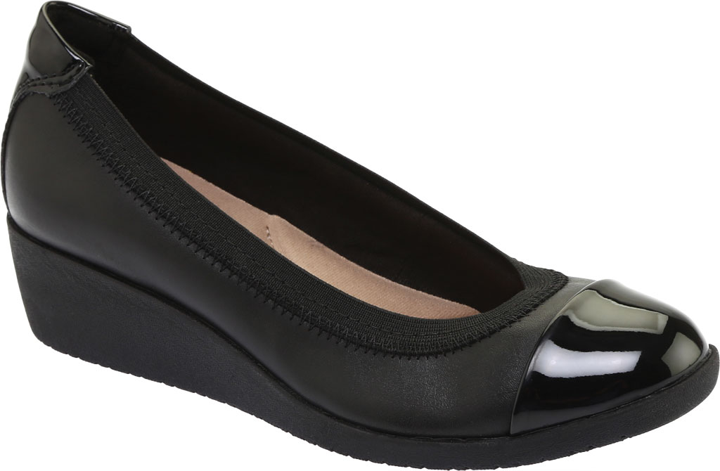 Women's Clarks Elin Palm Wedge Heel, , large, image 1
