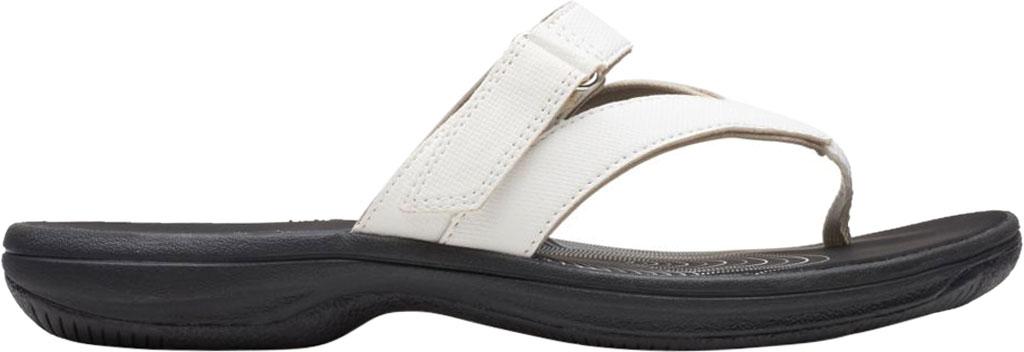 Women's Clarks Brinkley Marin Thong Sandal, White Polyurethane, large, image 2