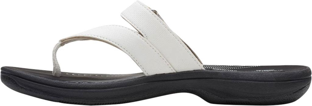 Women's Clarks Brinkley Marin Thong Sandal, White Polyurethane, large, image 3