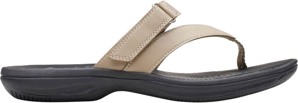 Women's Clarks Brinkley Marin Thong Sandal, Taupe Polyurethane, large, image 2