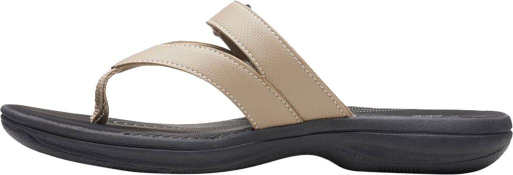 Women's Clarks Brinkley Marin Thong Sandal, Taupe Polyurethane, large, image 3