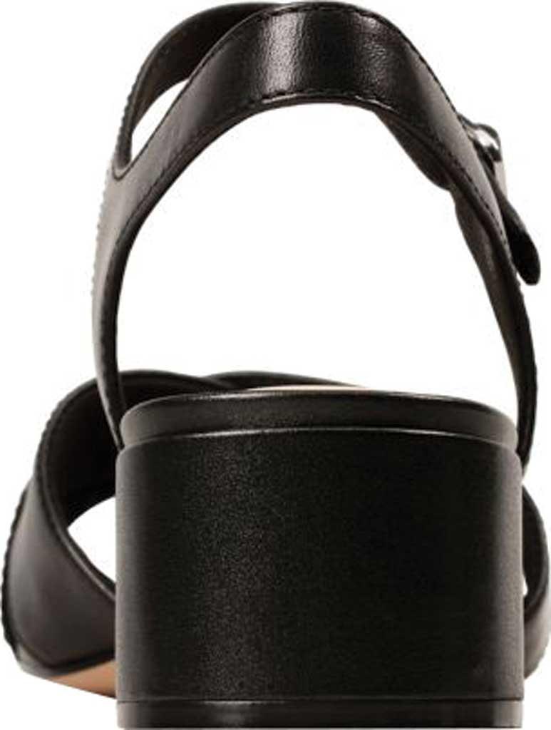 Women's Clarks Sheer35 Cross Strap Sandal, Black Leather, large, image 4