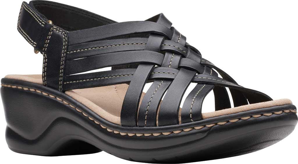 Women's Clarks Lexi Carmen Slingback Sandal, Black Full Grain Leather, large, image 1