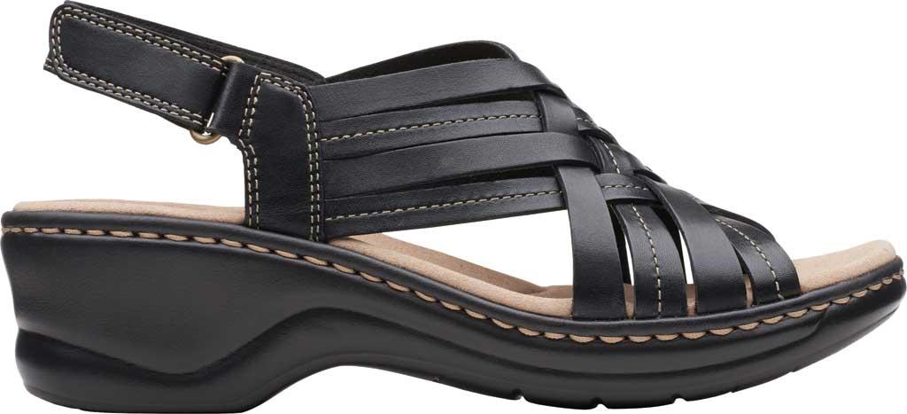 Women's Clarks Lexi Carmen Slingback Sandal, Black Full Grain Leather, large, image 2