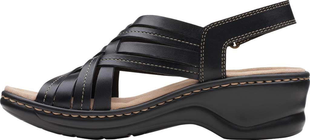 Women's Clarks Lexi Carmen Slingback Sandal, Black Full Grain Leather, large, image 3