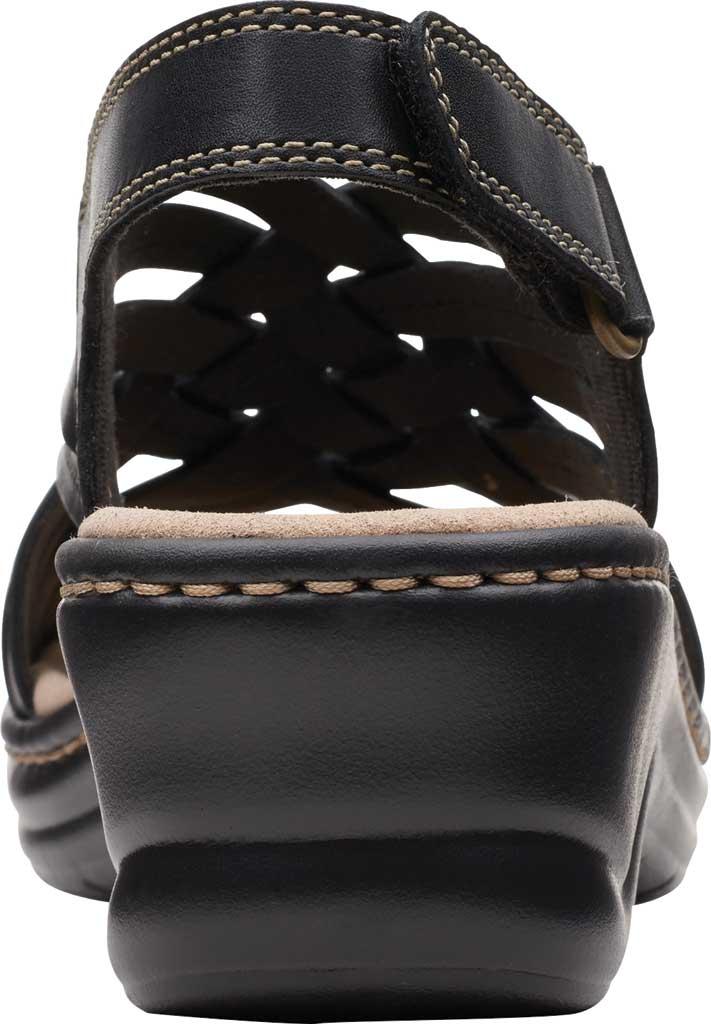 Women's Clarks Lexi Carmen Slingback Sandal, Black Full Grain Leather, large, image 4
