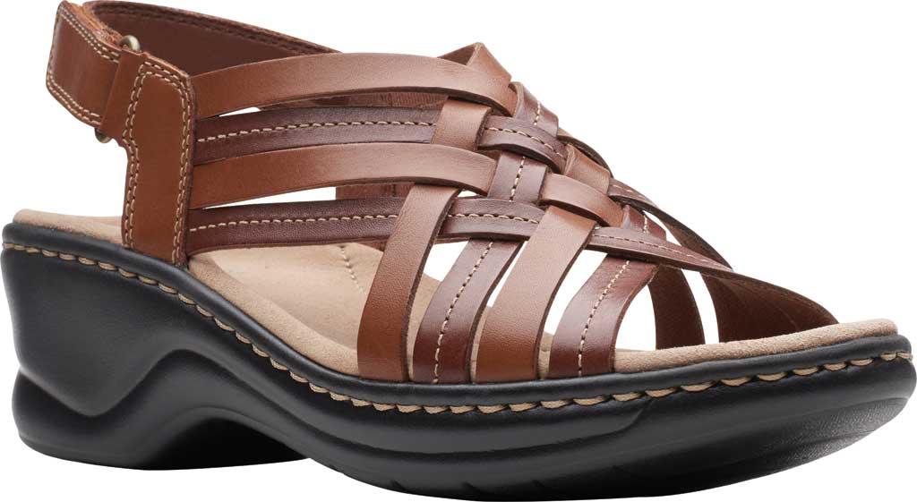 Women's Clarks Lexi Carmen Slingback Sandal, Tan Full Grain Leather, large, image 1