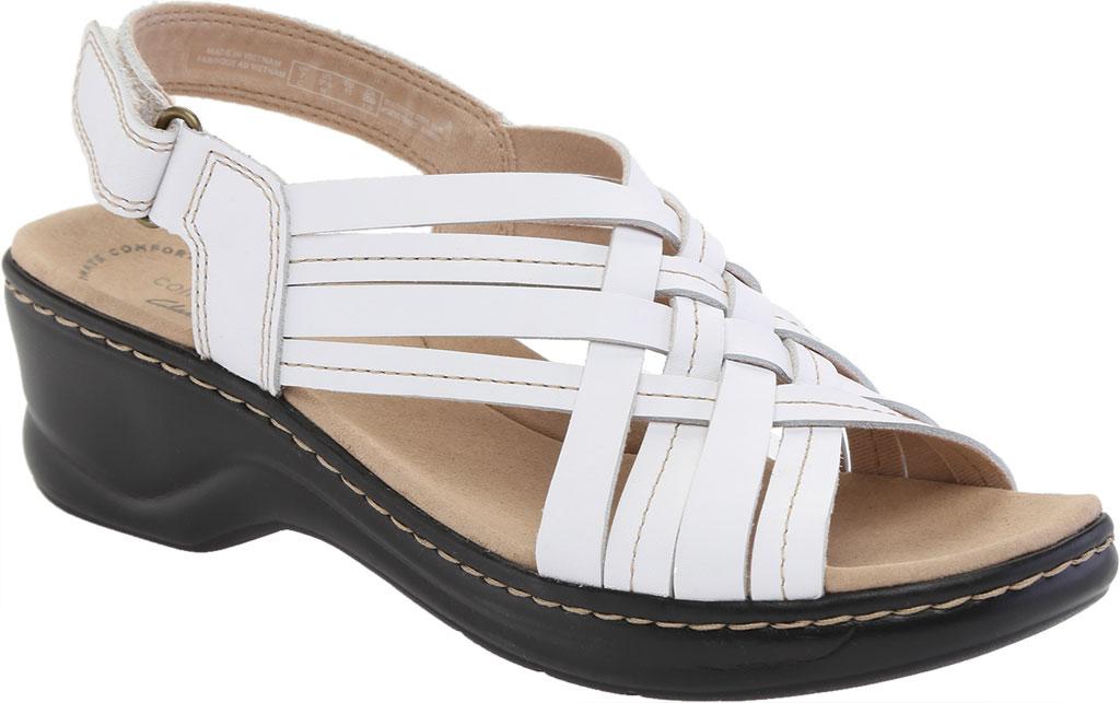 Women's Clarks Lexi Carmen Slingback Sandal, White Full Grain Leather, large, image 1