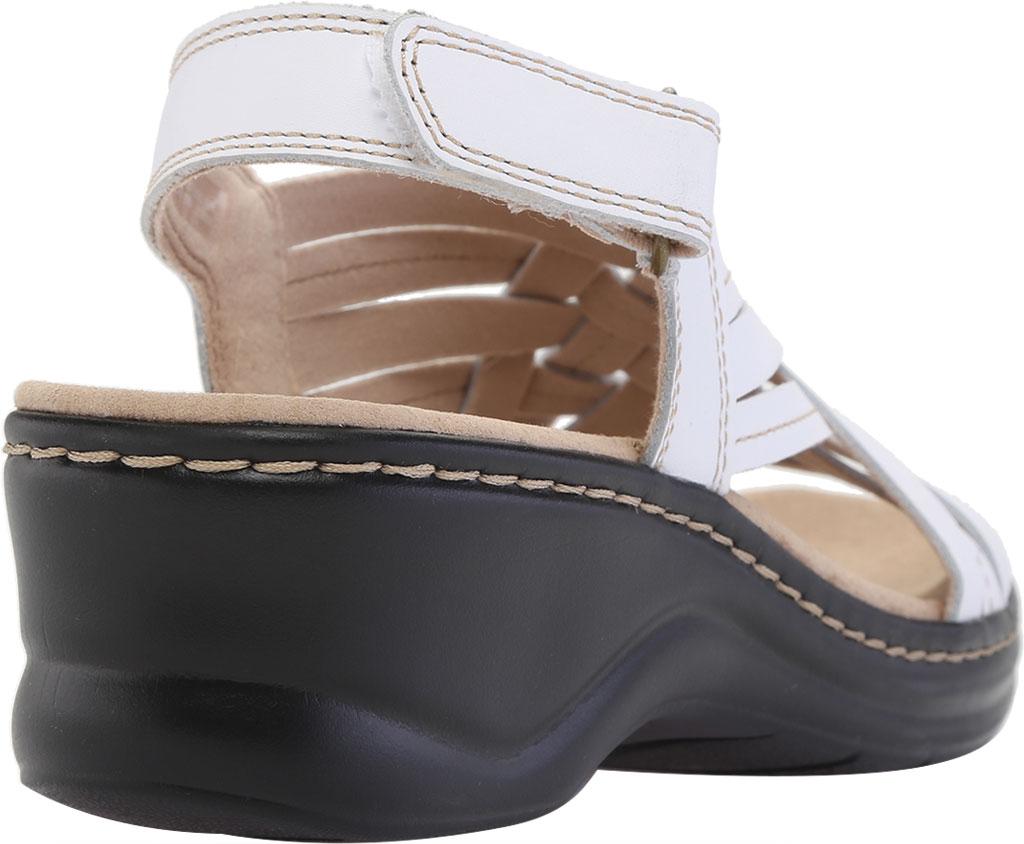 Women's Clarks Lexi Carmen Slingback Sandal, White Full Grain Leather, large, image 4