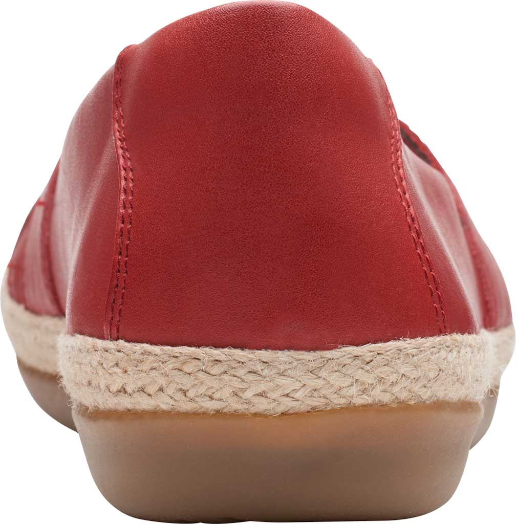 Women's Clarks Danelly Shine Espadrille Flat, Red Leather, large, image 4