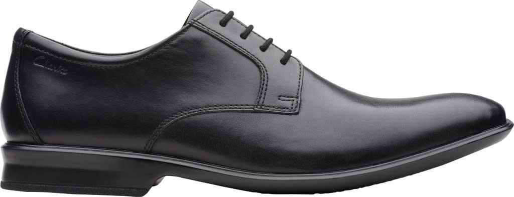Men's Clarks Bensley Lace Oxford, Black Full Grain Leather, large, image 2