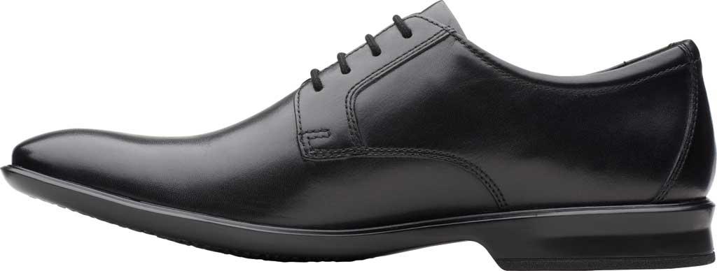 Men's Clarks Bensley Lace Oxford, Black Full Grain Leather, large, image 3