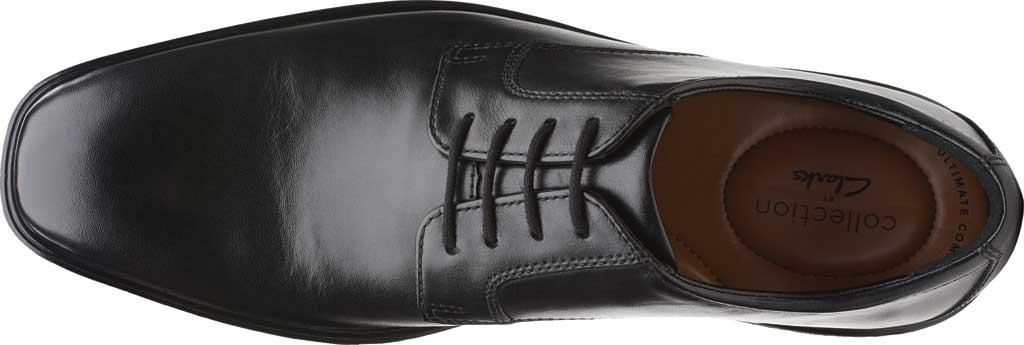 Men's Clarks Bensley Lace Oxford, Black Full Grain Leather, large, image 5