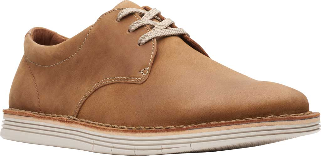 Men's Clarks Forge Vibe Oxford, Tan Leather, large, image 1