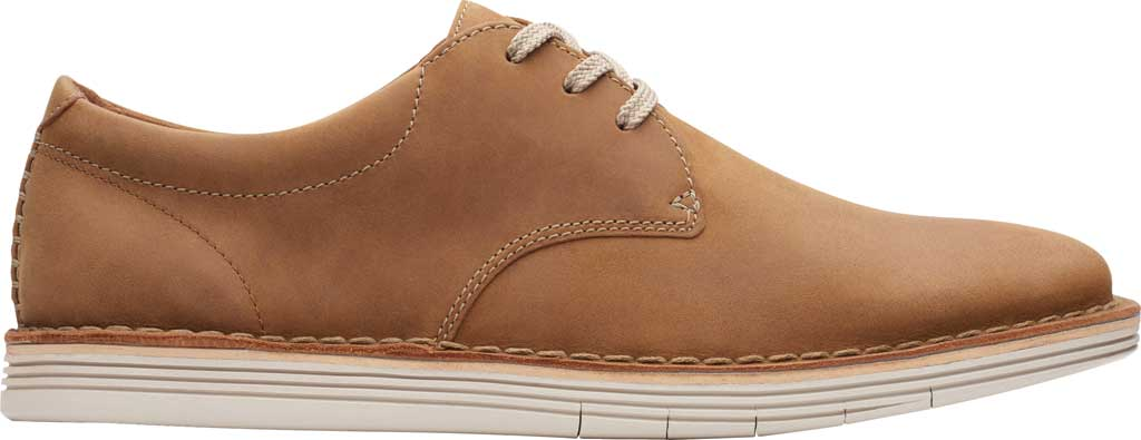 Men's Clarks Forge Vibe Oxford, Tan Leather, large, image 2