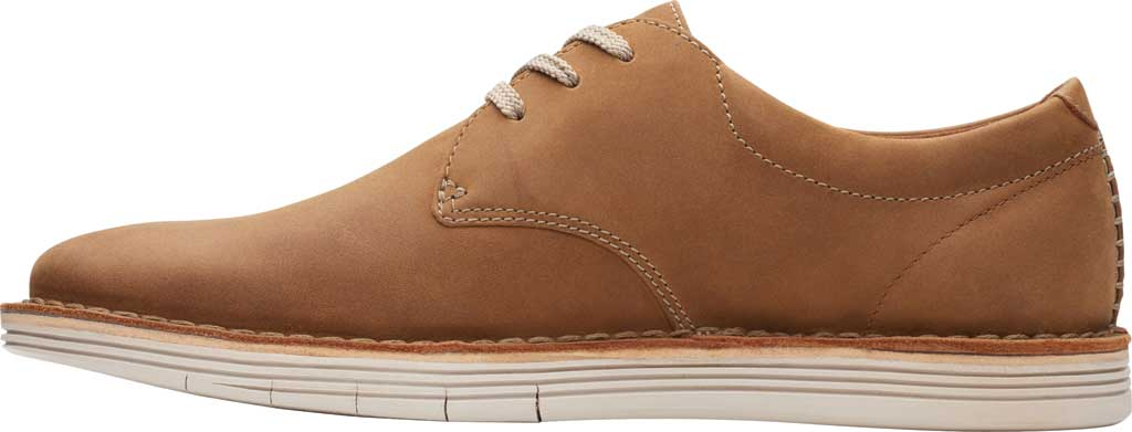 Men's Clarks Forge Vibe Oxford, Tan Leather, large, image 3
