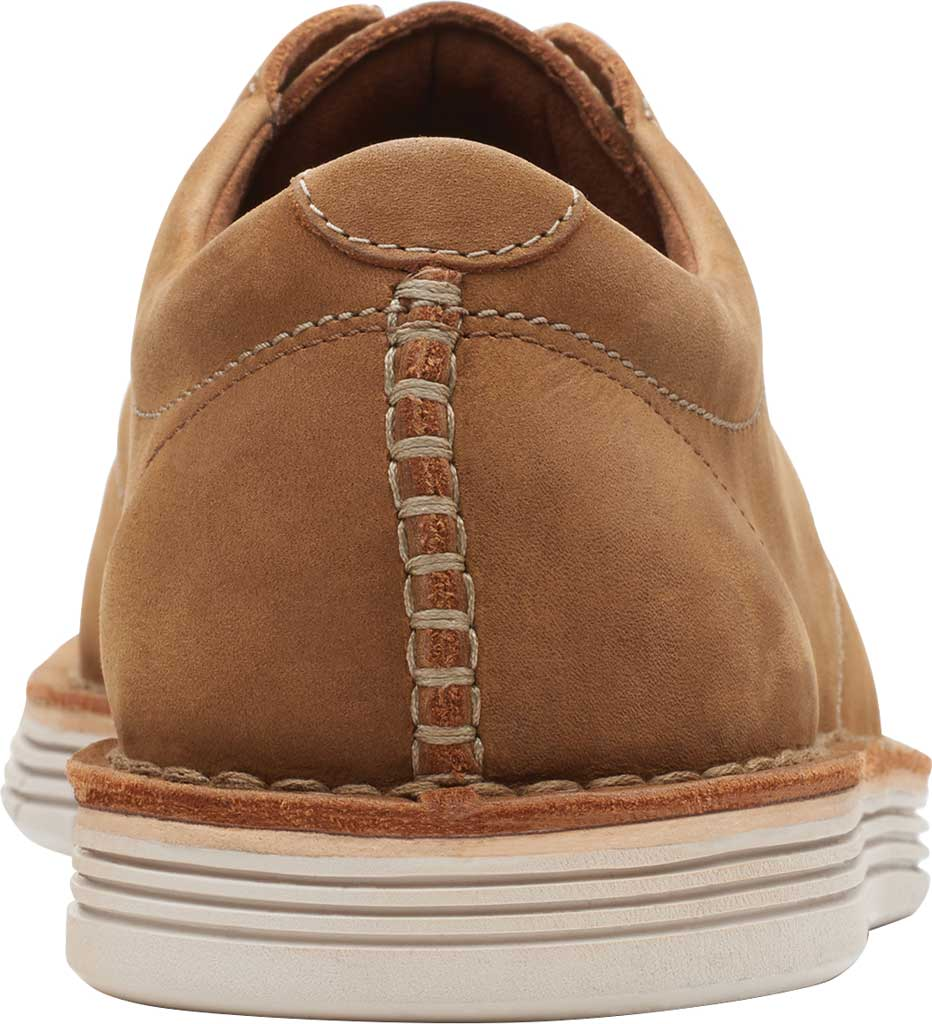 Men's Clarks Forge Vibe Oxford, Tan Leather, large, image 4