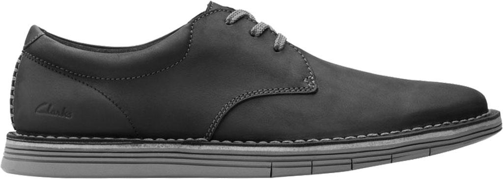 Men's Clarks Forge Vibe Oxford, Black Full Grain Leather, large, image 2