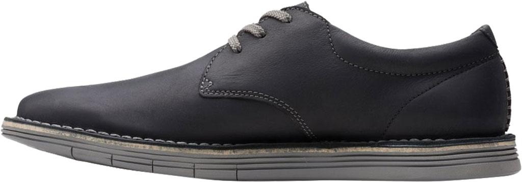 Men's Clarks Forge Vibe Oxford, Black Full Grain Leather, large, image 3