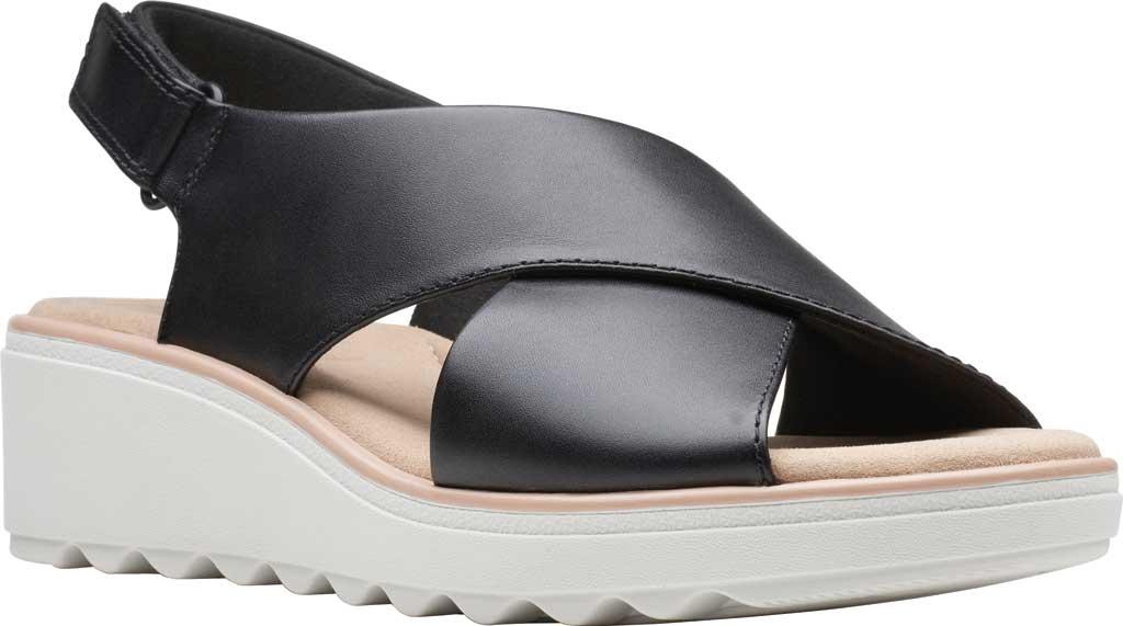 Women's Clarks Jillian Jewel Slingback Sandal, Black Leather, large, image 1