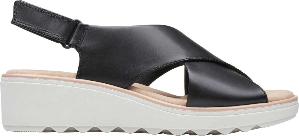 Women's Clarks Jillian Jewel Slingback Sandal, Black Leather, large, image 2