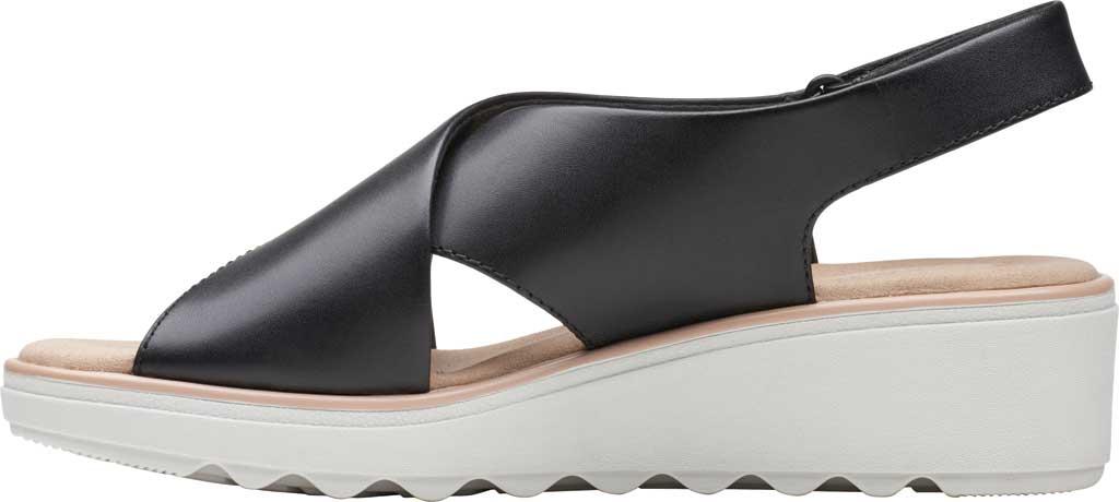 Women's Clarks Jillian Jewel Slingback Sandal, Black Leather, large, image 3
