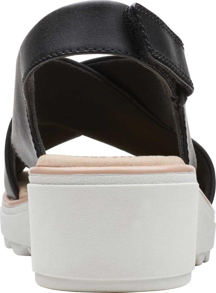 Women's Clarks Jillian Jewel Slingback Sandal, Black Leather, large, image 4