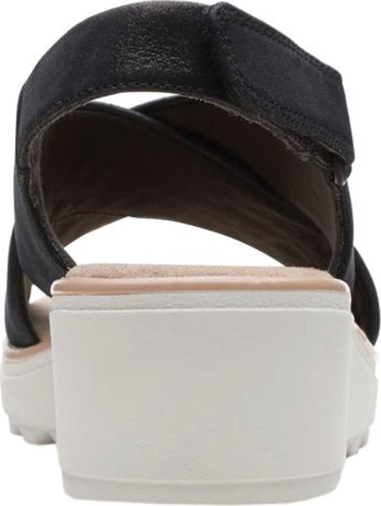 Women's Clarks Jillian Jewel Slingback Sandal, Black Metallic Smooth Leather, large, image 4