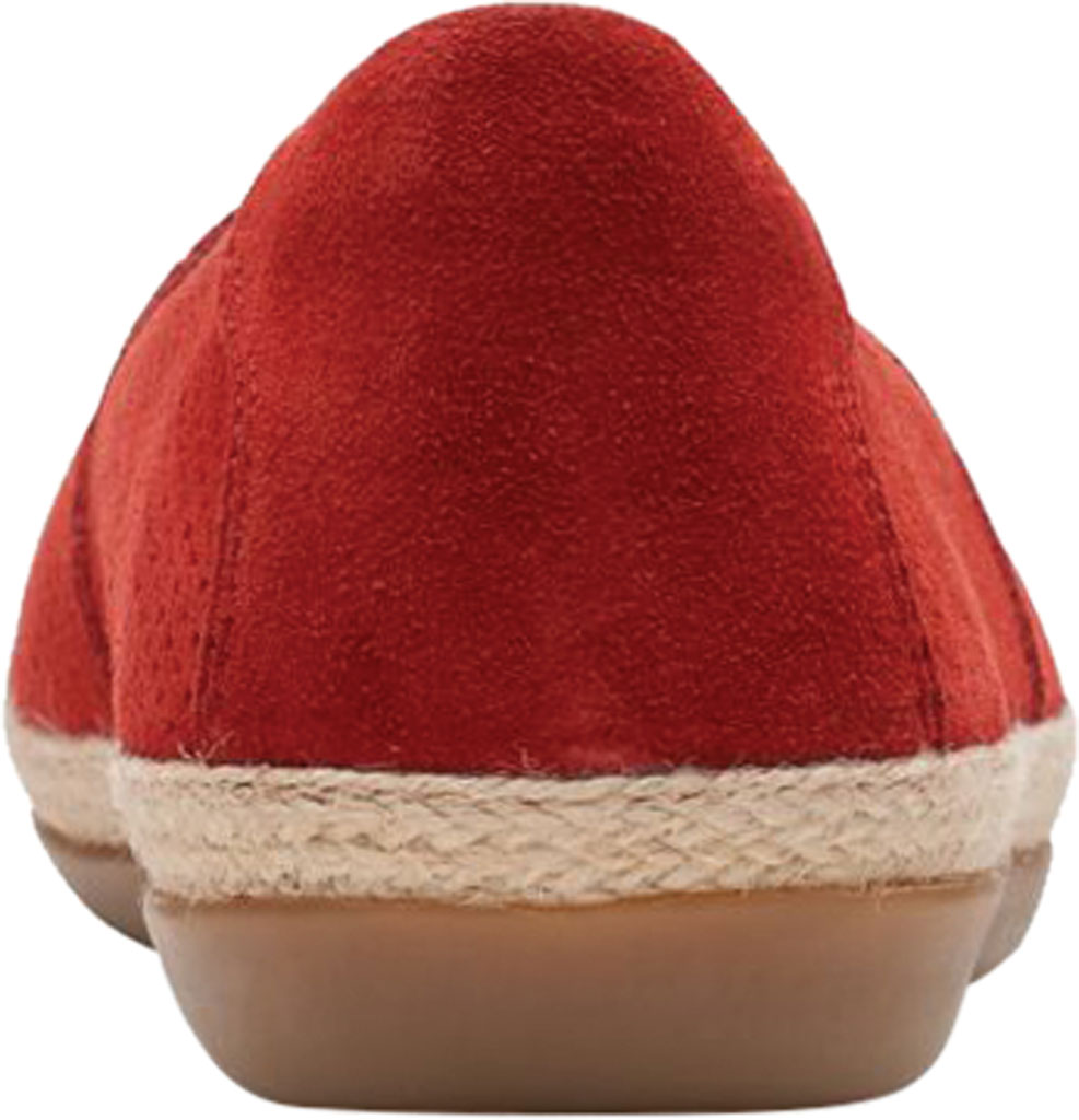 Women's Clarks Danelly Sky Espadrille Flat, Red Suede, large, image 4